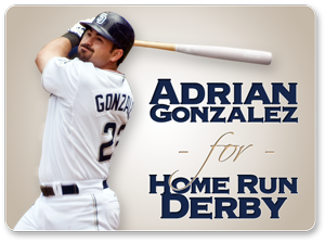 Adrian Gonzalez for Home Run Derby