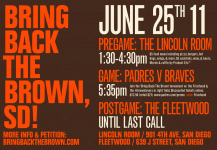 Bring Back the Brown June 25th