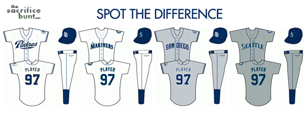 Padres mariners jerseys